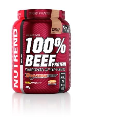 100% BEEF PROTEIN, 900 g, čokoláda+lískový ořech