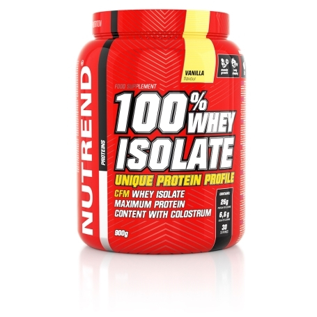 100% WHEY ISOLATE, 900 g, vanilka