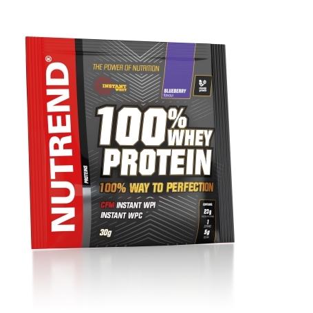 100% WHEY PROTEIN, 20x30 g, borůvka