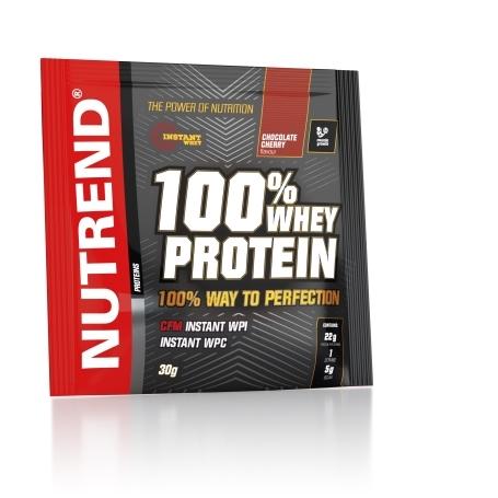 100% WHEY PROTEIN, 20x30 g, čokoláda+třešeň