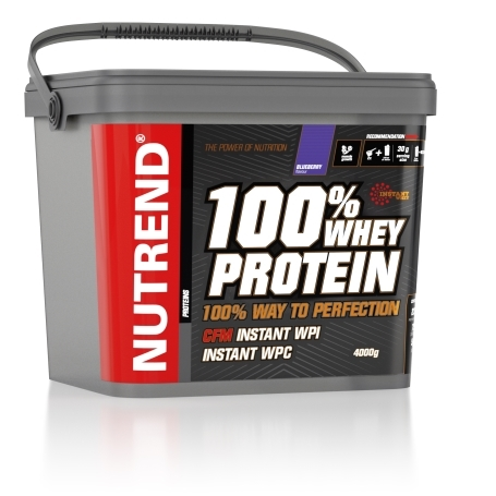 100% WHEY PROTEIN, 4000 g, borůvka