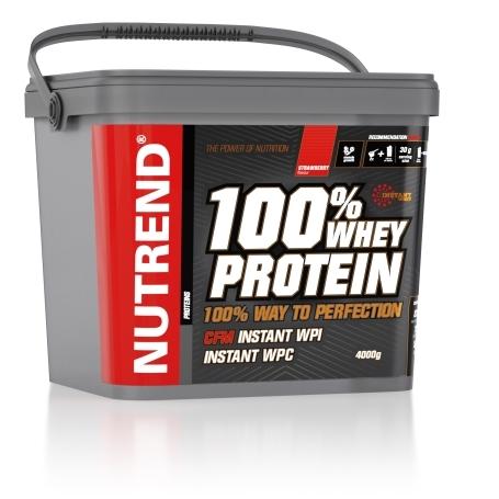 100% WHEY PROTEIN, 4000 g, jahoda