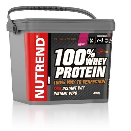 100% WHEY PROTEIN, 4000 g, malina