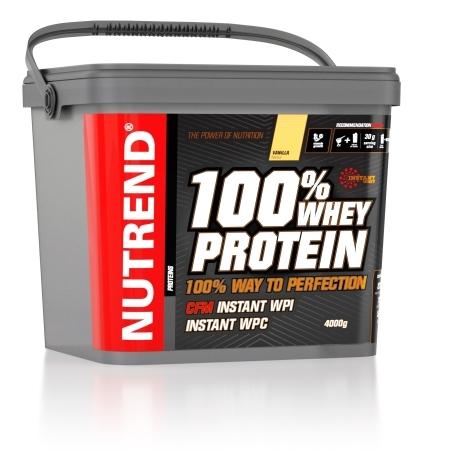 100% WHEY PROTEIN, 4000 g, vanilka