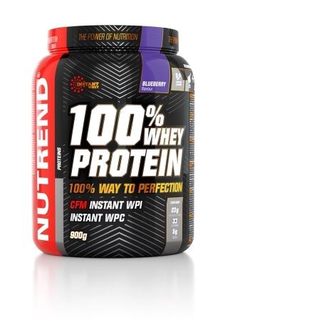 100% WHEY PROTEIN, 900 g, borůvka