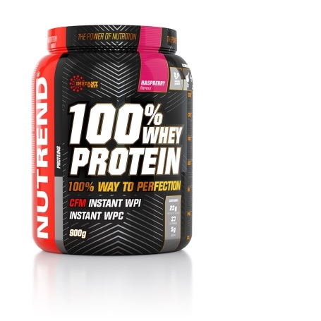 100% WHEY PROTEIN, 900 g, malina
