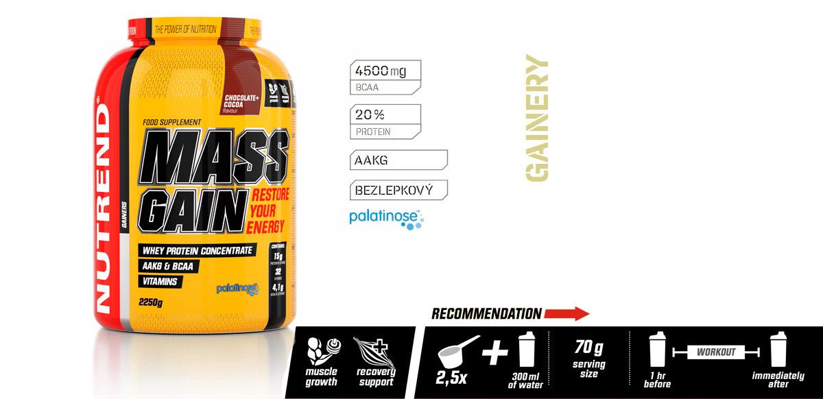 MASS GAIN (GAINER) | NUTREND.cz - Oficiální e-shop