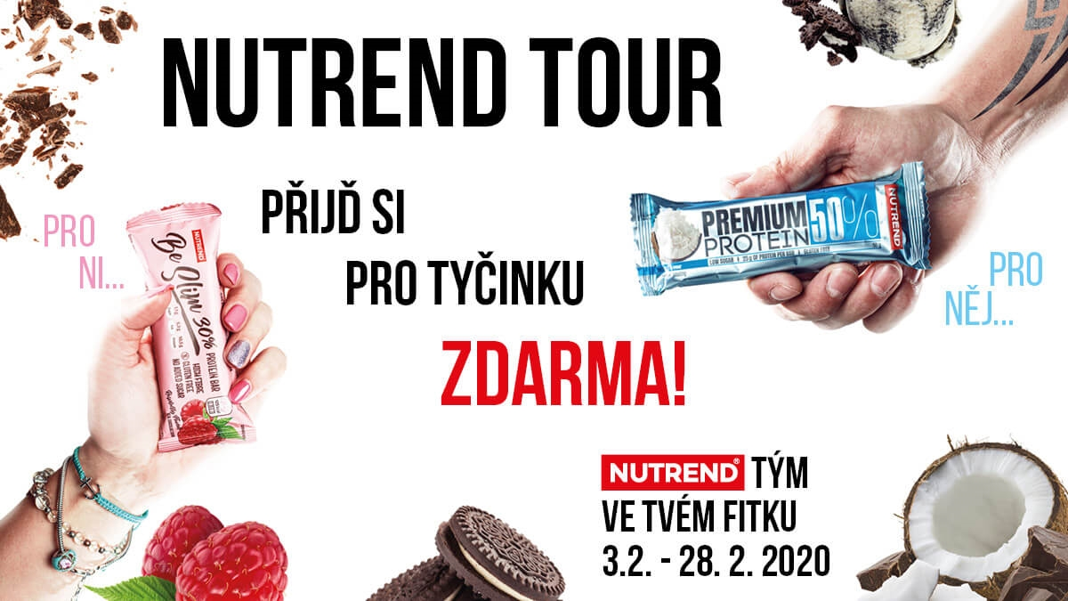 NUTREND TOUR 2020 - 31 měst, 65 fitness center