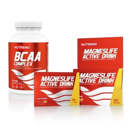 BCAA COMPLEX, 120 caps + MAGNESLIFE ACTIVE DRINK, 10x15g, citron ZDARMA