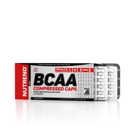 BCAA COMPRESSED CAPS, 120 kapslí,