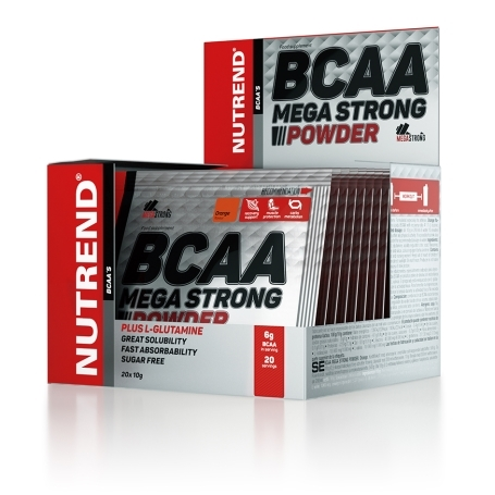 BCAA MEGA STRONG POWDER, 20x10 g, pomeranč