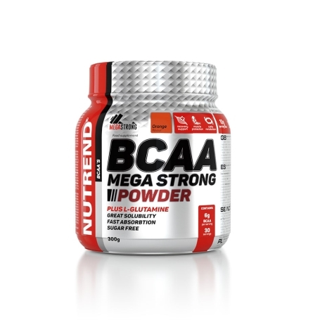 BCAA MEGA STRONG POWDER, 300 g, pomeranč