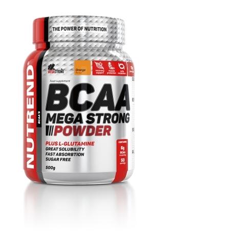 BCAA MEGA STRONG POWDER, 500 g, pomeranč