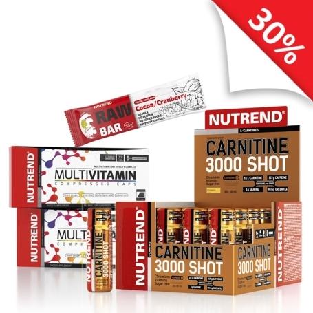 CARNITINE 3000 SHOT + MULTIVITAMIN + RAW BAR