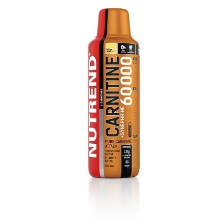 CARNITINE 60000 + SYNEPHRINE, 500 ml, žlutá malina