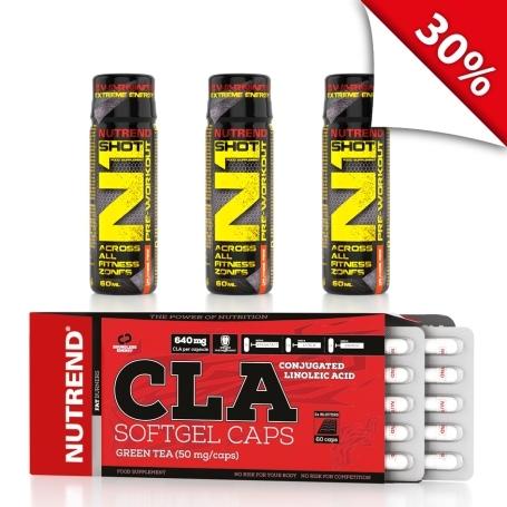 CLA SOFTGEL CAPS 60 kapslí + 3x N1 SHOT 60 ml