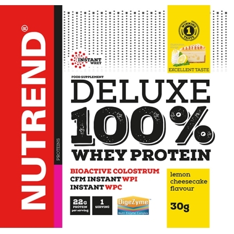 DELUXE 100% WHEY, 20x30 g, citronový cheesecake