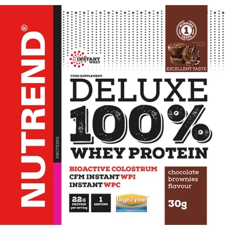 DELUXE 100% WHEY, 20x30 g, čokoláda+mandle