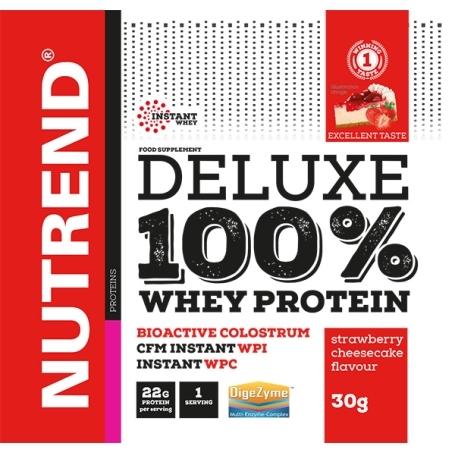 DELUXE 100% WHEY, 20x30 g, jahodový cheesecake