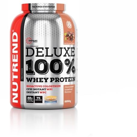 DELUXE 100% WHEY, 2250 g, čokoláda+lískový ořech
