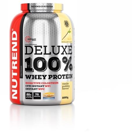 DELUXE 100% WHEY, 2250 g, pudinková vanilka