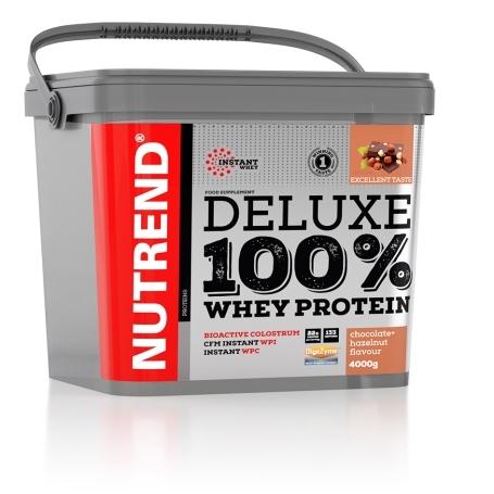 DELUXE 100% WHEY, 4000 g, čokoláda+lískový ořech