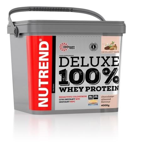 DELUXE 100% WHEY, 4000 g, čokoláda+mandle