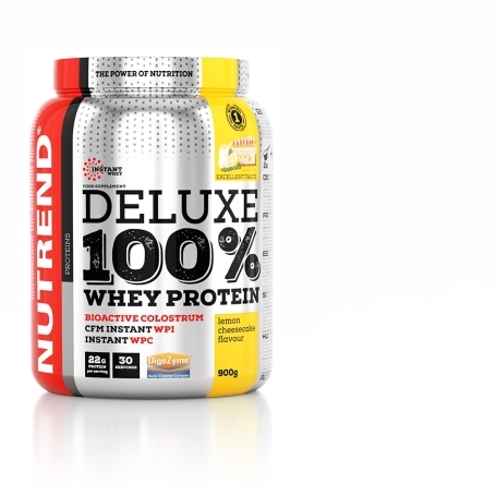 DELUXE 100% WHEY, 900 g, citronový cheesecake