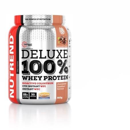 DELUXE 100% WHEY, 900 g, čokoláda+lískový ořech