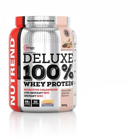 DELUXE 100% WHEY, 900 g, čokoláda+mandle