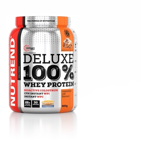DELUXE 100% WHEY, 900 g, skořicový šnek