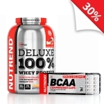 DELUXE 100% WHEY + BCAA COMPRESSED CAPS