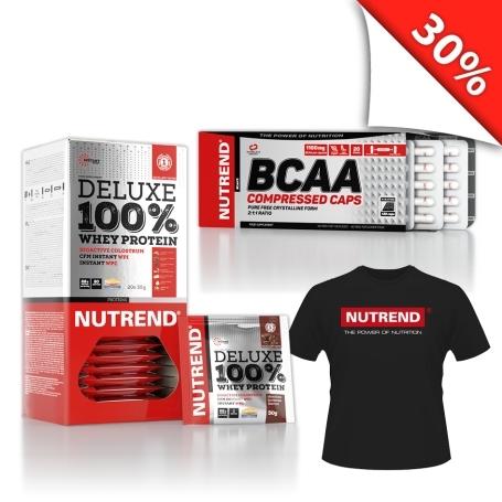 DELUXE 100% WHEY + BCAA COMPRESSED CAPS + TRIKO