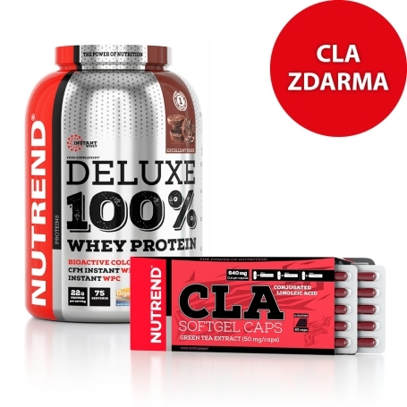 Deluxe 100% Whey Protein + CLA, 60 caps ZDARMA