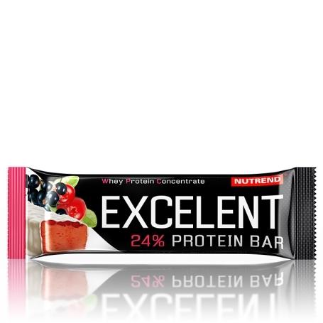 EXCELENT protein bar, 85 g, černý rybíz s brusinkami