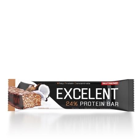 EXCELENT protein bar, 85 g, čokoláda+kokos