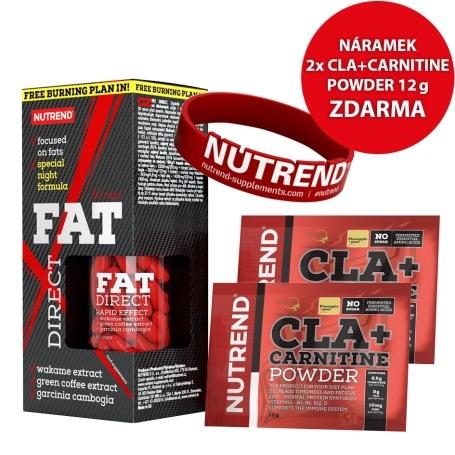 FAT DIRECT 60 caps + 2x CLA 12g ananas + NÁRAMEK NA RUKU červený ZDARMA