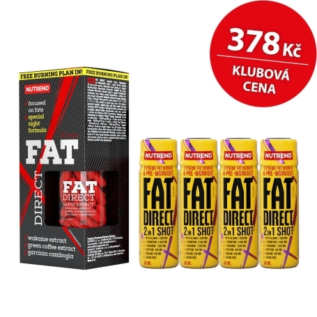 FAT DIRECT, 60 kapslí + 4x FAT DIRECT SHOT, 60 ml