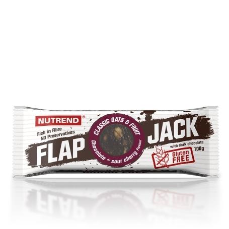 FLAPJACK GLUTEN FREE, 100 g, čokoláda+višeň s hořkou čokoládou