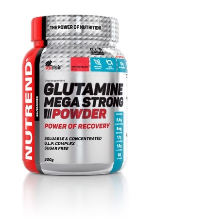 GLUTAMINE MEGA STRONG POWDER, 500 g, punč+brusinka
