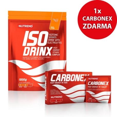 ISODRINX, 1000g, pomeranč + CARBONEX, 12tablet
