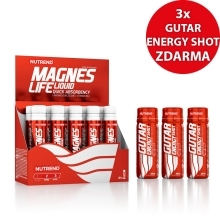 MAGNESLIFE, 10x25 ml + 3x GUTAR ENERGY SHOT, 60 ml ZDARMA