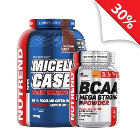 MICELLAR CASEIN  + BCAA MEGA STRONG POWDER