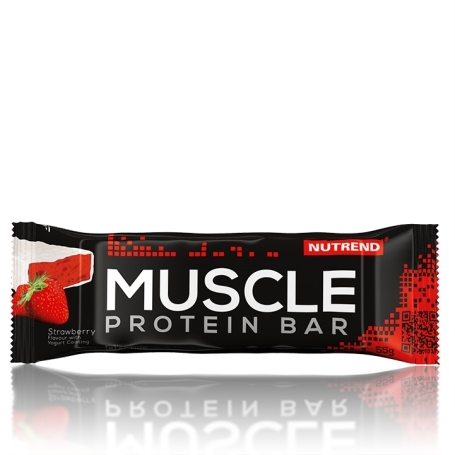 MUSCLE PROTEIN BAR, 55 g, jahoda