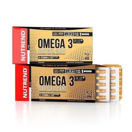 OMEGA 3 PLUS SOFTGEL CAPS, 120 kapslí,