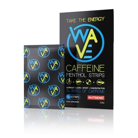WAVE CAFFEINE MENTOL STRIPS